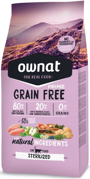 Ownat Grain Free Prime Sterilized (Cat)