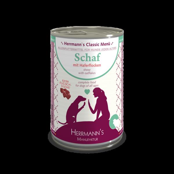 Herrmann's Bio Schaf Menü mit Haferflocken