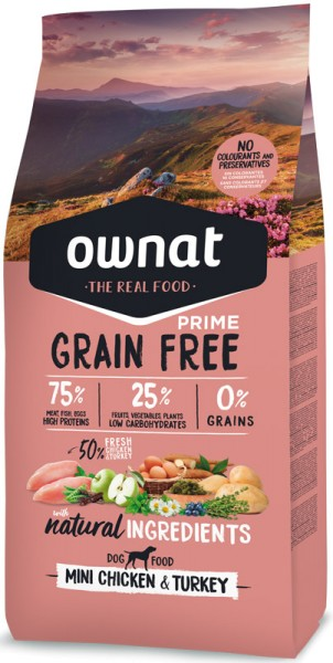 Ownat Grain Free Prime Mini (Dog)