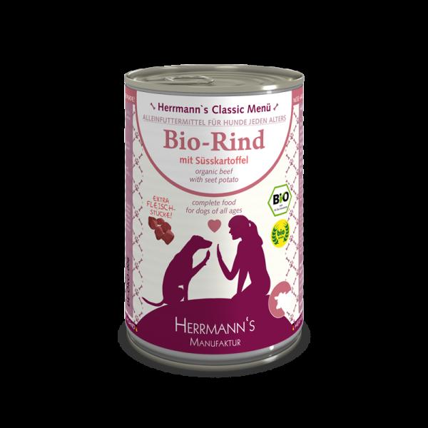 Herrmann's Bio Rind Menü mit Süsskartoffeln
