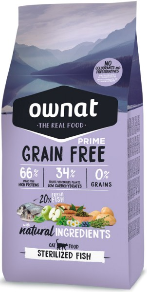 Ownat Grain Free Prime Sterilized mit Fisch (Cat)