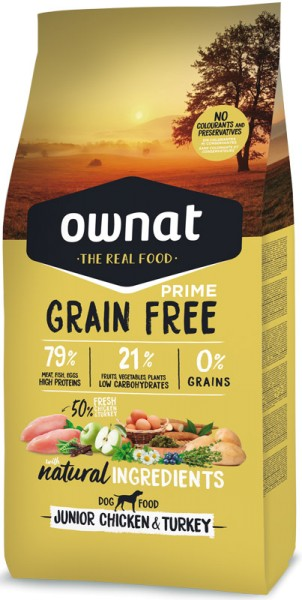 Ownat Grain Free Prime Junior (Dog)